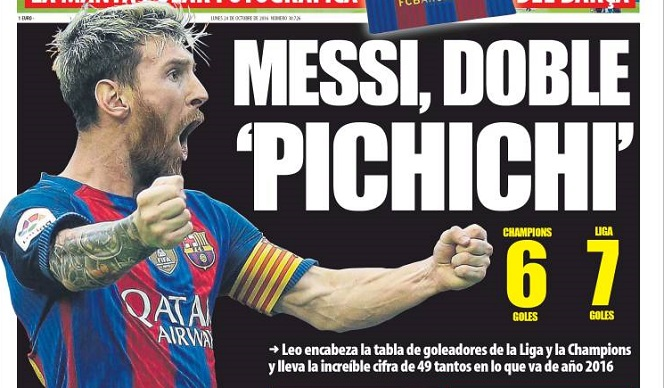 Messi doble pichichi