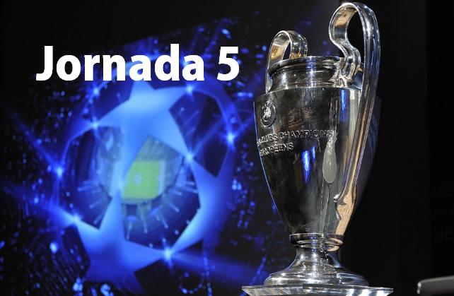 Partidos Jornada 5 Champions League 2016