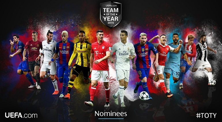 Once Ideal UEFA 2016 nominados