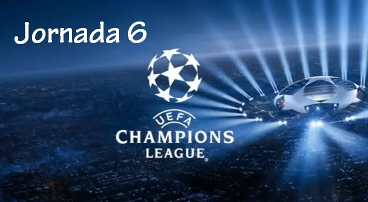 Partidos Jornada 6 Champions League 2016