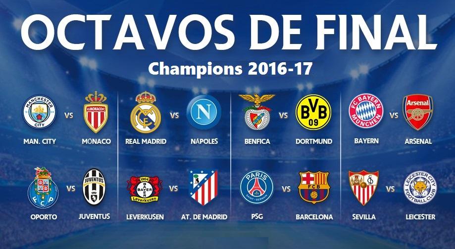 Octavos Champions League 2017