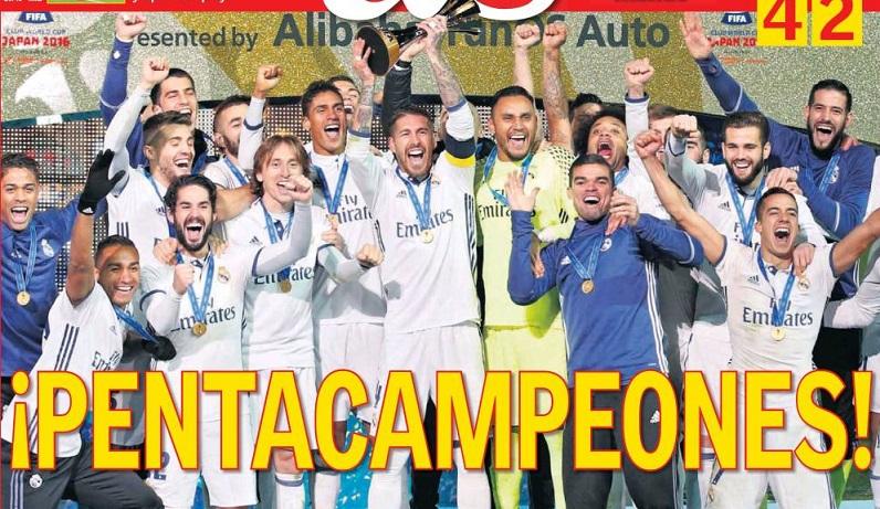 Real Madrid Pentacampeón del Mundo