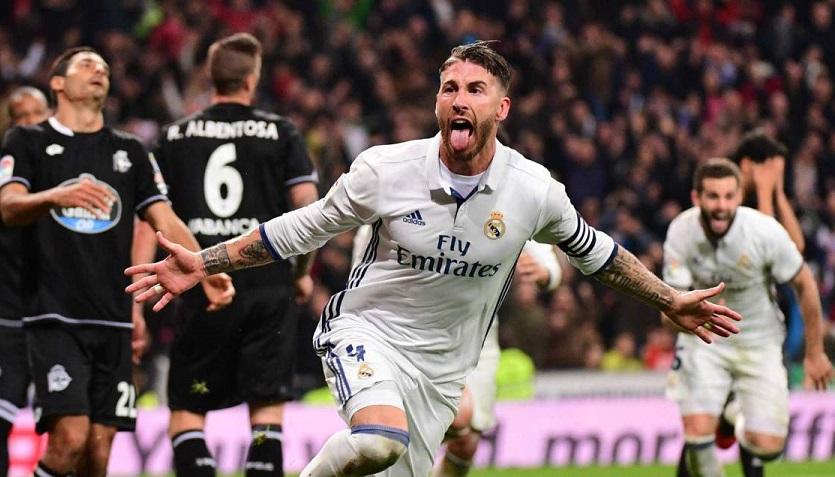 Real Madrid-Deportivo 2016 sergio ramos gol