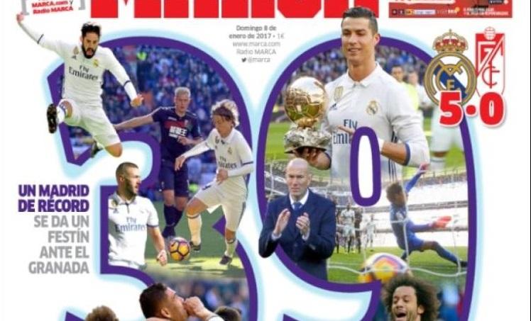 Cristiano ofrece el Balón de Oro al Bernabéu