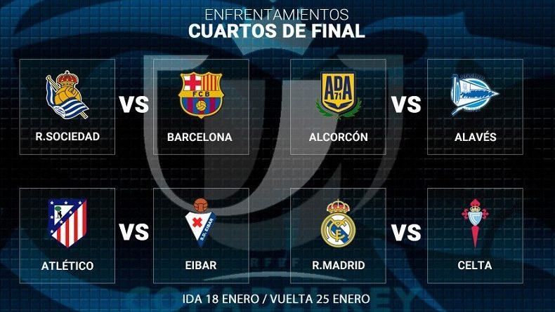 Cuartos de final copa del rey 2017 calendario de partidos for Cuartos de final coac 2017