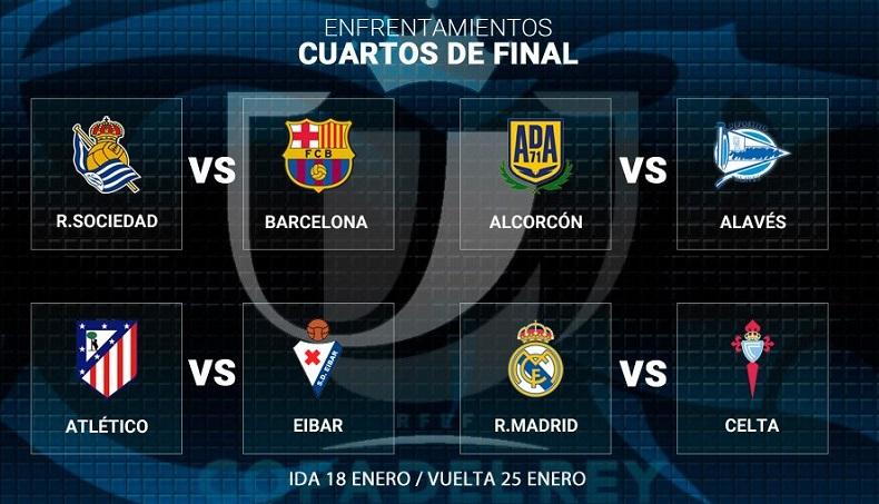Cuartos de final Copa del Rey 2017 | Calendario de partidos