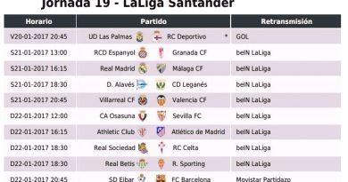 Jornada 19 Liga Española 2017 | LaLiga Santander