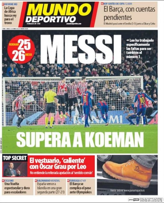 Messi Supera a Koeman