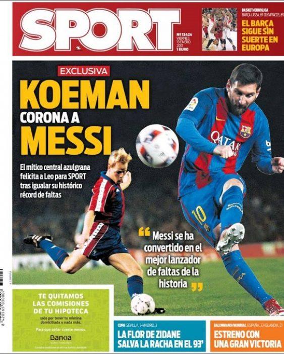 Koeman corona a Messi