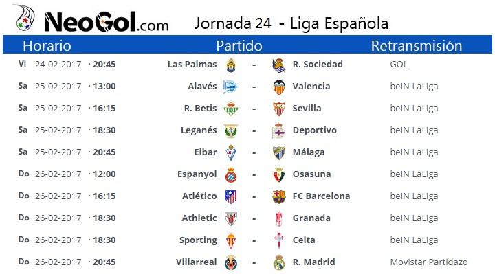 Jornada 24 Liga Española 2017 | LaLiga Santander