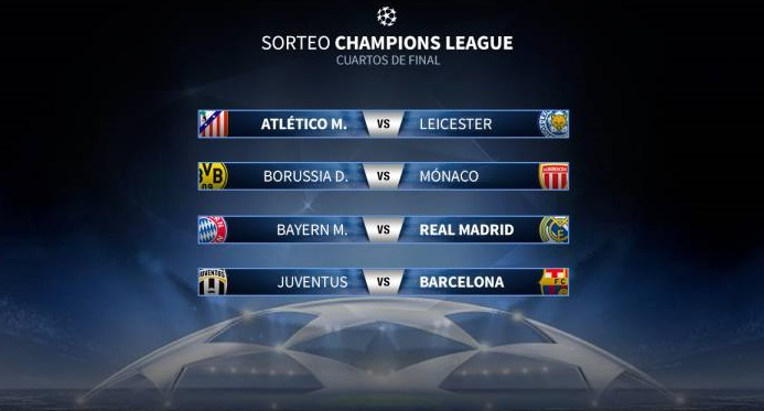 Cuartos de final champions league 2017 partidos y for Cuartos de final champions