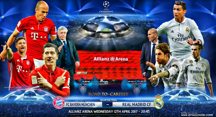 Bayern Munich-Real Madrid Champions League 2017