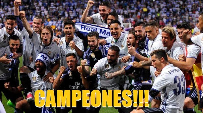 2 Real Madrid 2017 La Liga: REAL MADRID CAMPEÓN DE LIGA 2017