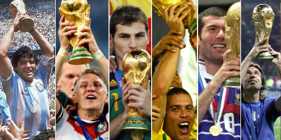 Campeones de los Mundiales de Fútbol