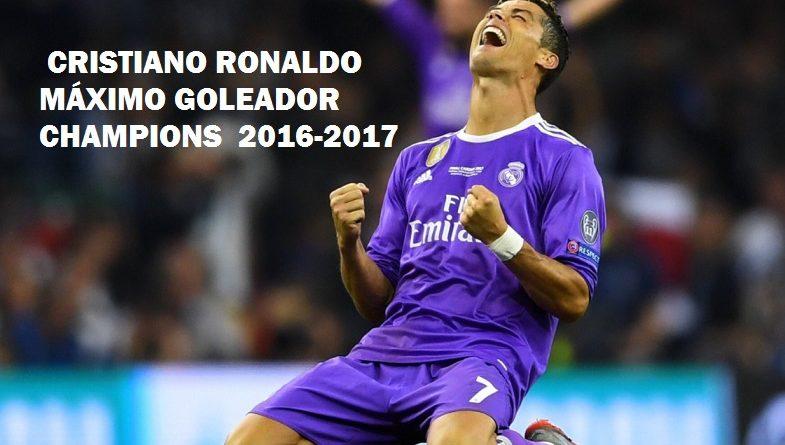 Cristiano Ronaldo máximo goleador Champions 2017