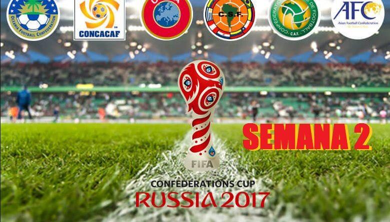 Horarios Copa Confederaciones 2017 Jornada 2