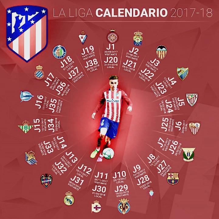 Calendario Lfp.Thread Oficial Atletico De Madrid 2017 18 Mediavida