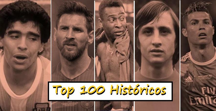 """Los 100 mejores futbolistas de la historia según la revista""""FourFourTwo"""""""