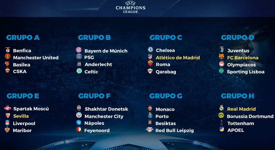 Calendario Uefa Champions League.Calendario Champions League Grupo H Calendarios Hd