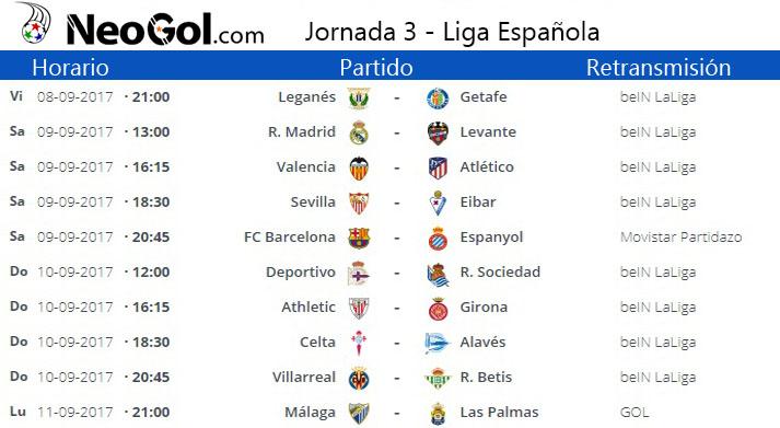 Jornada 3 Liga Española 2017-2018 | LaLiga Santander