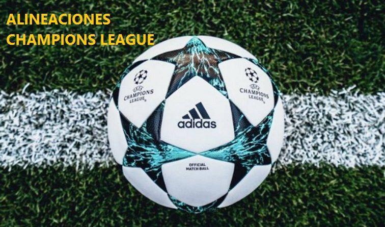 Alineaciones Jornada 1 Champions 2017