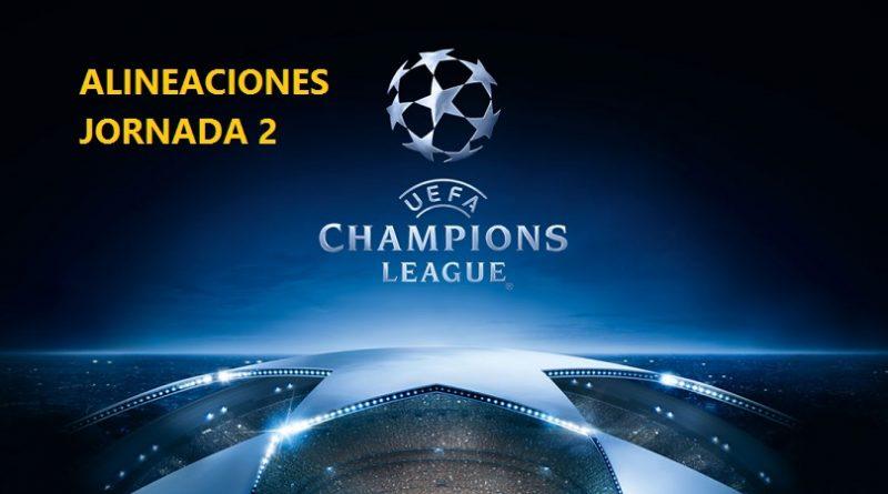 Alineaciones Jornada 2 Champions 2017