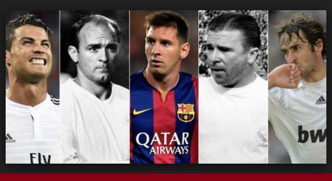 Máximos Goleadores Clásicos Real Madrid Barcelona