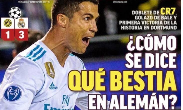 Cristiano Ronaldo despierta en Dortmund