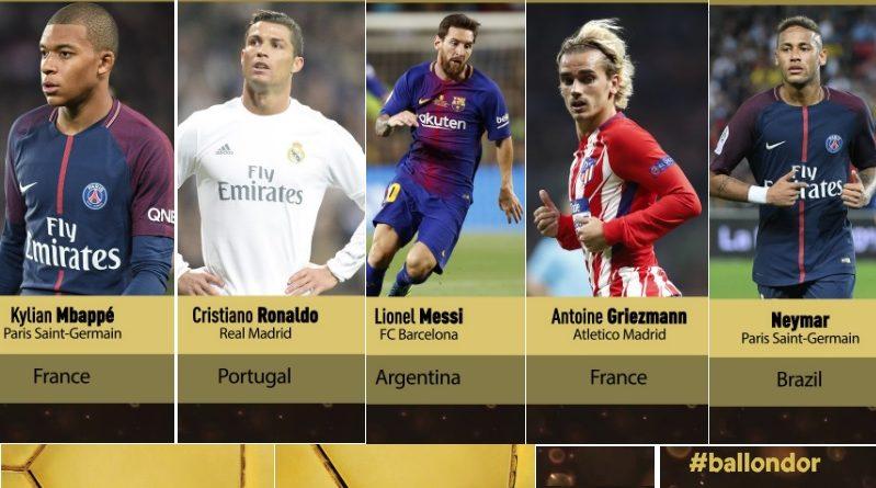 30 Candidatos Balón de Oro 2017