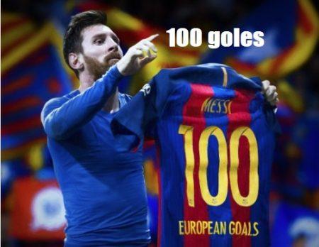Leo Messi 100 goles UEFA