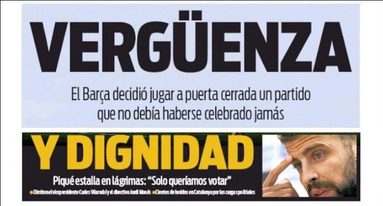 Vergüenza de España