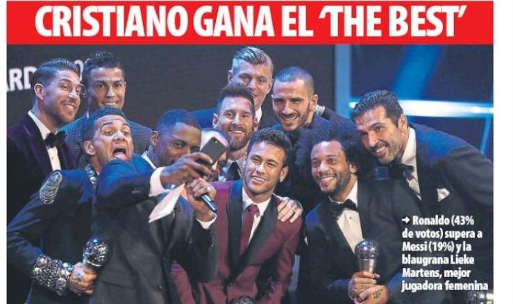 Cristiano gana The Best