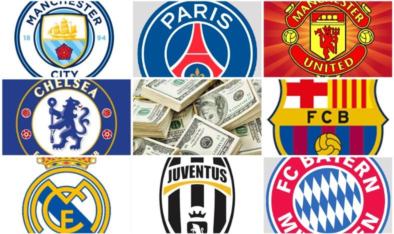 Plantillas mas caras del fútbol 2017