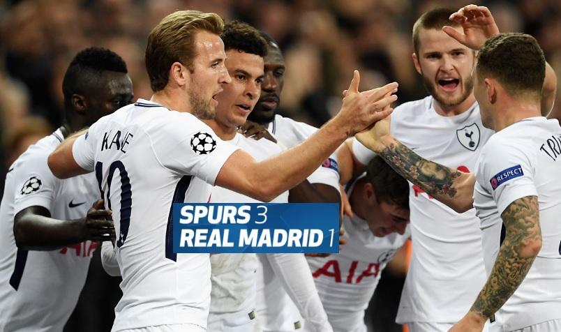 Real Madrid 4 1 Getafe Merengues Vencieron Con Goles De: Tottenham 3-1 Real Madrid Jornada 4 Champions 2017