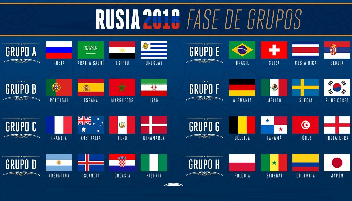 Calendario Mundial Rusia 2018