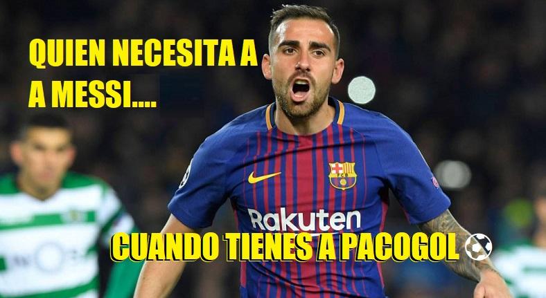 Memes Barcelona-Sporting Portugal Champions