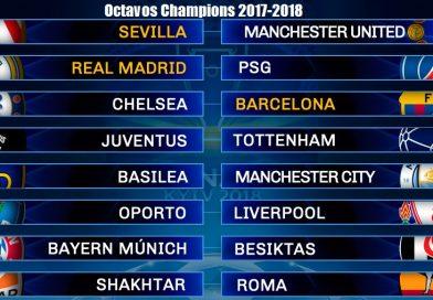 Calendario Octavos Champions Leage 2017-2018 |  Partidos y horarios