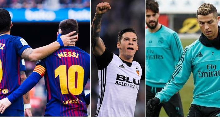 Alineaciones Jornada 18 Liga Santander