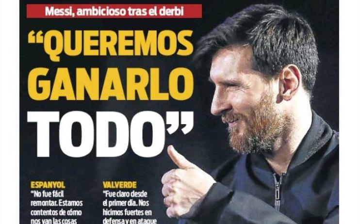 Messi quiere ganarlo todo