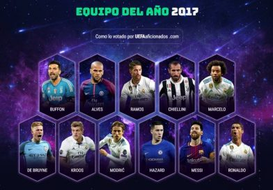 El once ideal UEFA 2017 TOTY of the year