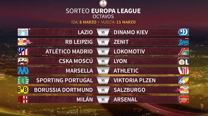 Octavos Europa League 2018