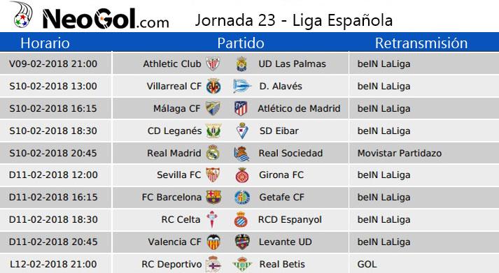 Jornada 23 Liga Española 2018