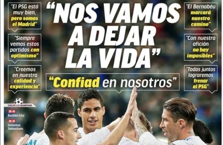 Madrid se conjura contra el PSG
