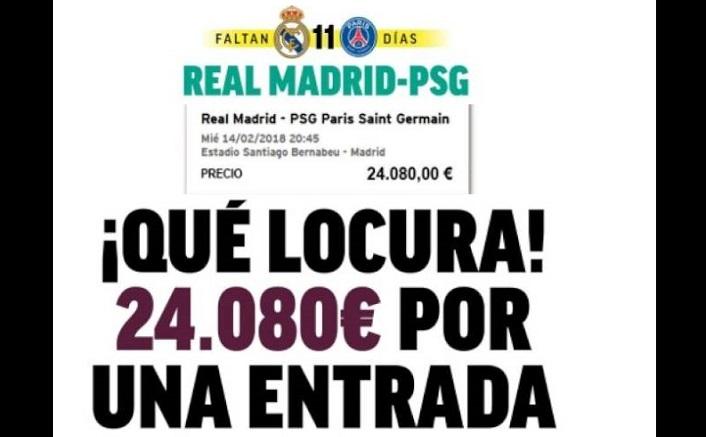 24 mil euros por una entrada Madrid-PSG
