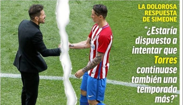 Simeone dice No a Torres