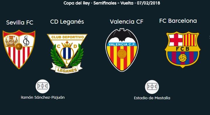 Semifinales Copa del Rey 2018 Vuelta | Partidos y horarios