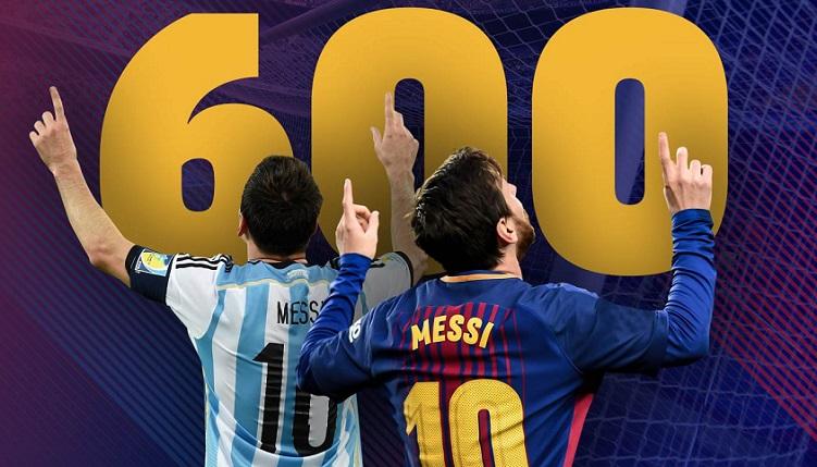 Leo Messi llega a los 600 goles como profesional