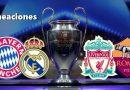 Alineaciones Semifinales Champions 2018
