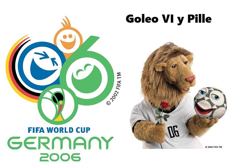 Logo y mascota del Mundial Alemania 2006: Goleo VI y Pille
