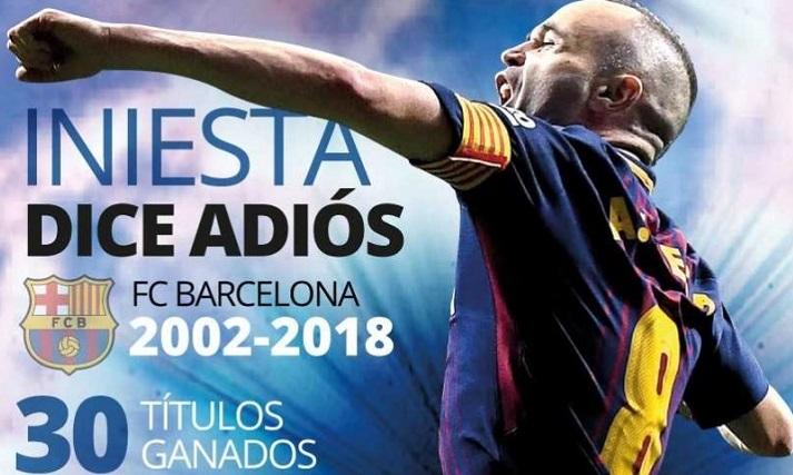 Iniesta hace oficial su adiós al Barça